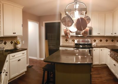 Custom kitchen with copper