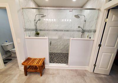 Full custom shower with toilet room